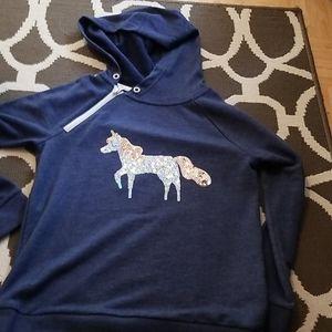 Girls unicorn hoodie NWOT